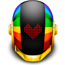 256x256px size png icon of Guyman Helmet Love