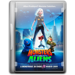 256x256px size png icon of Monsters Vs Aliens