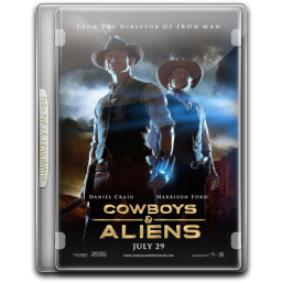 256x256px size png icon of Cowboys Aliens v9