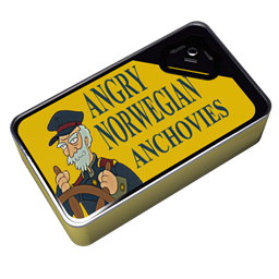 256x256px size png icon of Futurama Angry Norwegian Anchovies