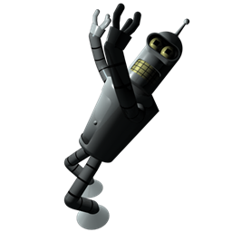 256x256px size png icon of Futurama Bender 1
