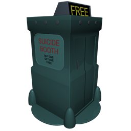 256x256px size png icon of Futurama Suicide Booth