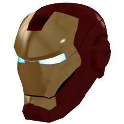 256x256px size png icon of Ironman Mask 1 Gold