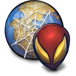 256x256px size png icon of CIVIL WAR Spiderman Browser