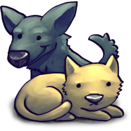 256x256px size png icon of CatDog