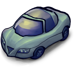 256x256px size png icon of Cool Sports Car