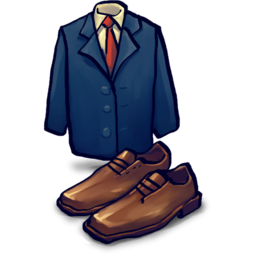 256x256px size png icon of Jacket, Shoes
