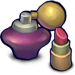 256x256px size png icon of PERFume with lipstick