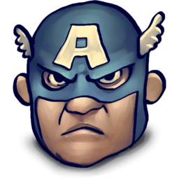 256x256px size png icon of Steve Rogers