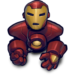 256x256px size png icon of blackred ironman