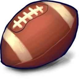 256x256px size png icon of football