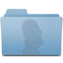 256x256px size png icon of Homer Folder