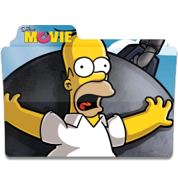 256x256px size png icon of Simpsons Folder The Movie 02