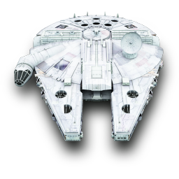 256x256px size png icon of MilleniumFalcon