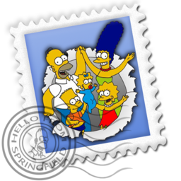 256x256px size png icon of Mail Simpsons