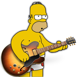 256x256px size png icon of garage band homer