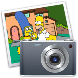 256x256px size png icon of iPhoto simpsons
