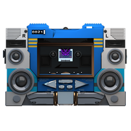 256x256px size png icon of Transformers Soundwave no tape front