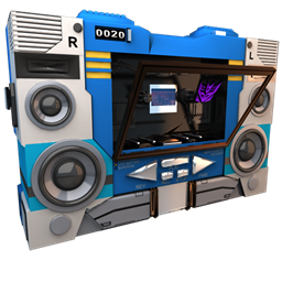 256x256px size png icon of Transformers Soundwave no tape side