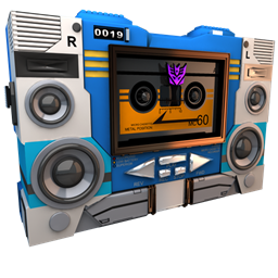 256x256px size png icon of Transformers Soundwave tape side