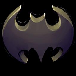 256x256px size png icon of Comics Batman Logo