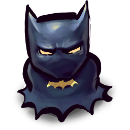 256x256px size png icon of Comics Batman