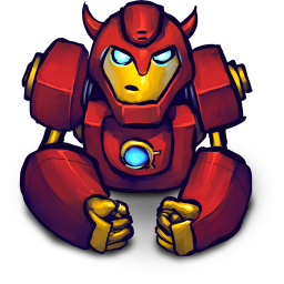 256x256px size png icon of Comics Hero Red 2