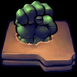 256x256px size png icon of Comics Hulk Fist Folder