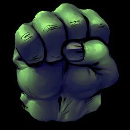 256x256px size png icon of Comics Hulk Fist