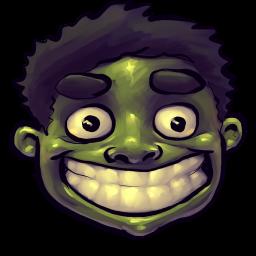 256x256px size png icon of Comics Hulk Happy