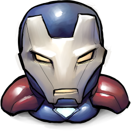 256x256px size png icon of Comics Iron America