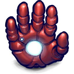 256x256px size png icon of Comics Ironman Hand