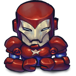 256x256px size png icon of Comics Ironman Patriot