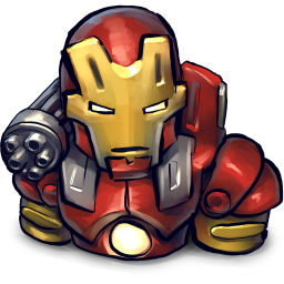 256x256px size png icon of Comics Ironman Red