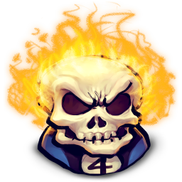 256x256px size png icon of Comics Johnny Blaze