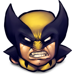 256x256px size png icon of Comics Logan