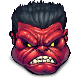 256x256px size png icon of Comics Rulk Angry