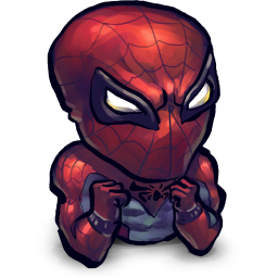 256x256px size png icon of Comics Spiderman Baby
