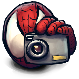 256x256px size png icon of Comics Spiderman Cam