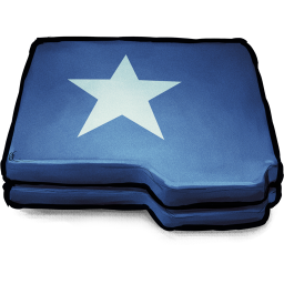 256x256px size png icon of Folder Blue Star