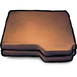 256x256px size png icon of Folder Brown