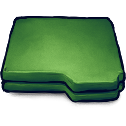 256x256px size png icon of Folder Green