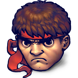 256x256px size png icon of Street Fighter Ryu