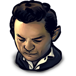 256x256px size png icon of TV Johny Cash