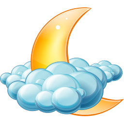 256x256px size png icon of Cloudy night