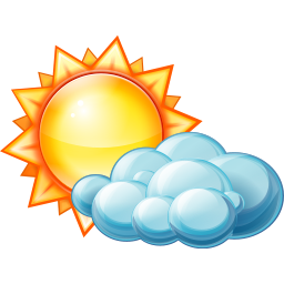 256x256px size png icon of Partly cloudy day