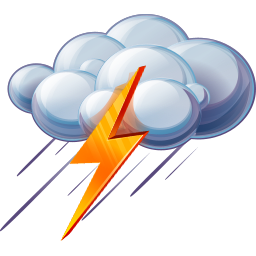 256x256px size png icon of Thunder