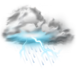256x256px size png icon of thunder lightning storm