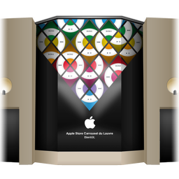256x256px size png icon of Apple Store Louvre Front Cover