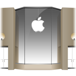 256x256px size png icon of Apple Store Louvre Front